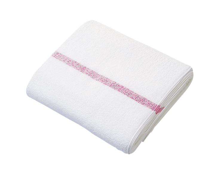 Salon Towel(12 pcs・White and red stripe)